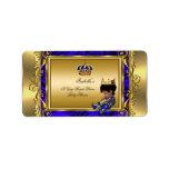 Prince Royal Blue Baby Shower Regal Gold Boy Address Label