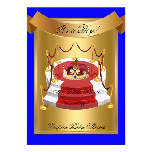 royal blue boy couples baby shower crown prince baby shower boy blue