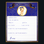 """Prince Royal Blue Gold Advice Predictions Games Flyer<br><div class=""""desc"""">Sweet Prince in royal blue &amp; gold with a crown. One side is Predictions for baby and the other side is Advice for the parent-to-be. Two baby shower games on one sheet! See the Royal Prince Collection for other matching items.</div>"""