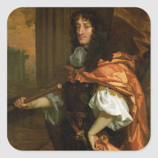 Prince Rupert (1619-82), c.1666-71 (oil on canvas) Square Stickers