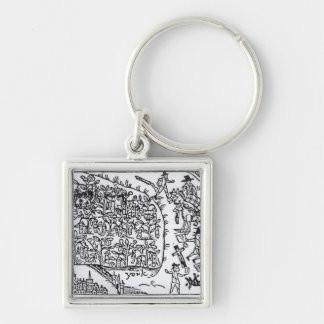 Prince Rupert  Hiding in a Bean Silver-Colored Square Keychain