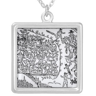 Prince Rupert  Hiding in a Bean Silver Plated Necklace