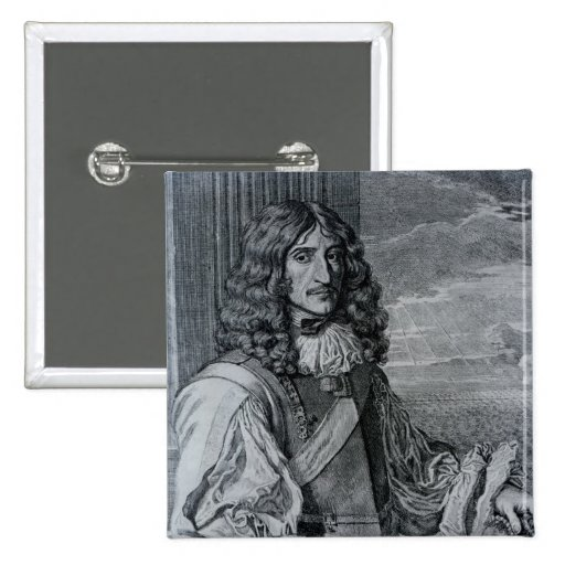 Prince Rupert of the Rhine 2 Inch Square Button