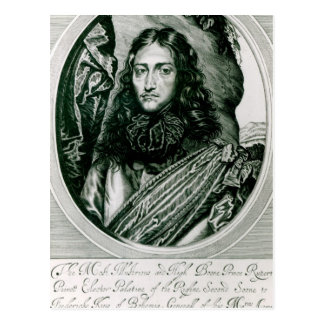Prince Rupert of the Rhine engraved by William Postcard