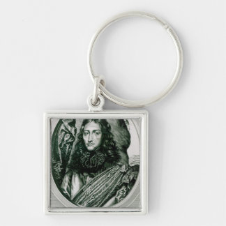 Prince Rupert of the Rhine engraved by William Silver-Colored Square Keychain