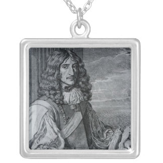 Prince Rupert of the Rhine Square Pendant Necklace