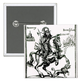 Prince Rupert on Horseback Pinback Button