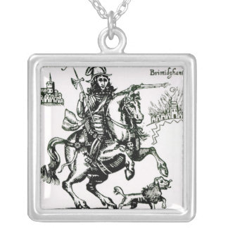 Prince Rupert on Horseback Square Pendant Necklace