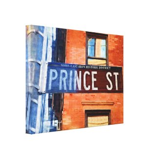 Prince Street Sign NYC Canvas Print
