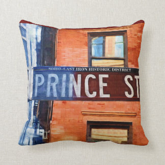 Prince Street Sign NYC Throw Pillow