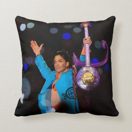 Prince | Super Bowl XLI | Pepsi Halftime Show Throw Pillow