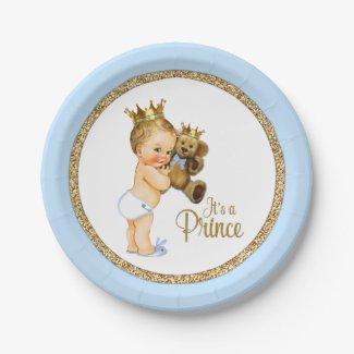 Prince Teddy Bear Boy Baby Shower
