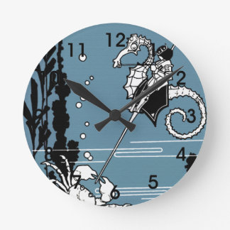 Prince & The  Seahorse Round Clock