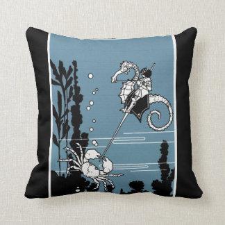 Prince & The  Seahorse Throw Pillow