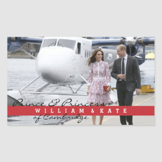 Prince William and Catherine Rectangular Sticker