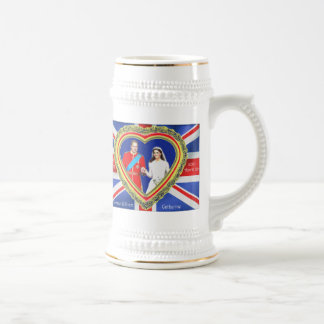 Prince William and Catherine Royal Wedding Beer Stein