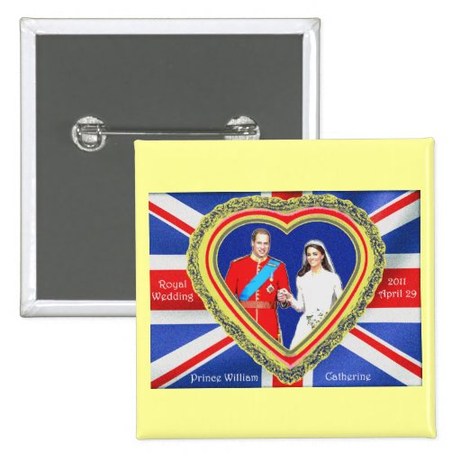 Prince William and Catherine Royal Wedding Button