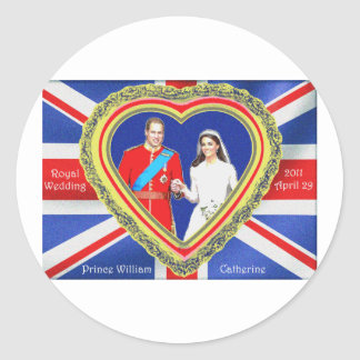 Prince William and Catherine Royal Wedding Classic Round Sticker