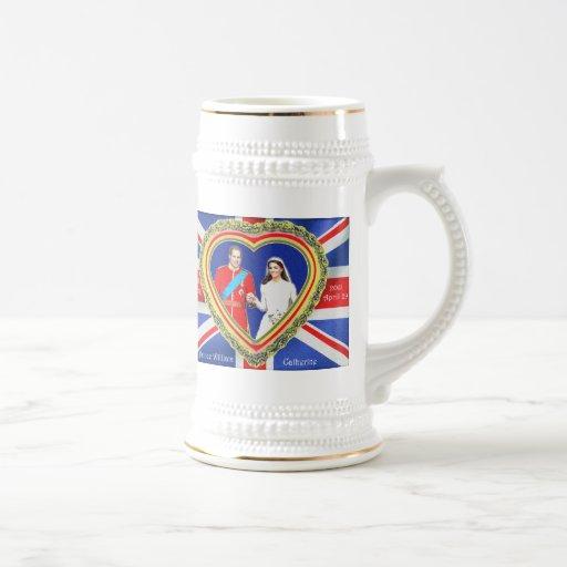 Prince William and Catherine Royal Wedding Mugs