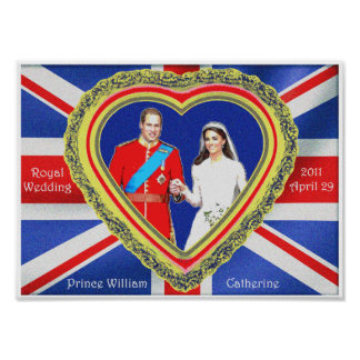 Prince William and Catherine Royal Wedding Poster