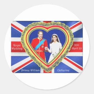 Prince William and Catherine Royal Wedding Classic Round Sticker