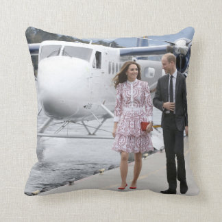 Prince William and Catherine Throw Pillow