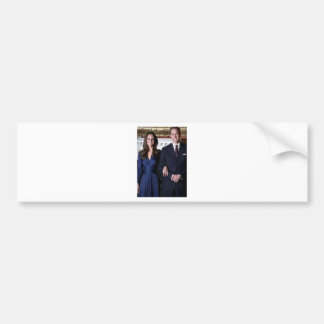 Prince William and Kate Middleton Paper Product Car Bumper Sticker