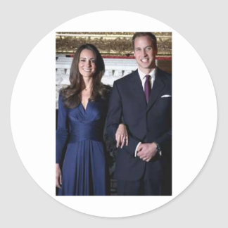 Prince William and Kate Middleton Paper Product Classic Round Sticker