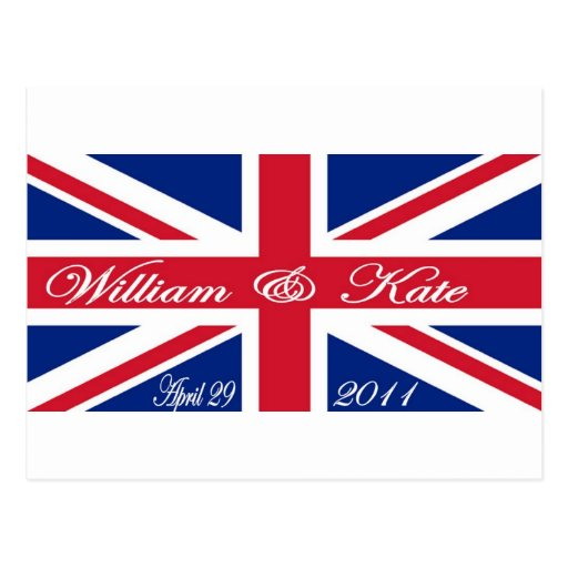 Prince William and Kate Post Card