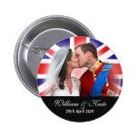Prince William & Catherine Royal Wedding Button