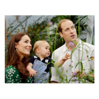 Prince William,Duchess Catherine & Prince George Postcard