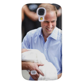 Prince William Holding Newborn Son 2 Samsung Galaxy S4 Cover