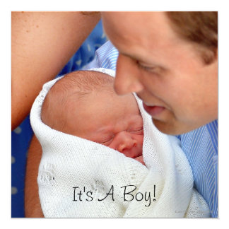 Prince William Holding Newborn Son Card