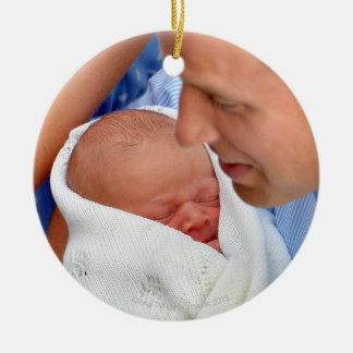 Prince William Holding Newborn Son Ceramic Ornament
