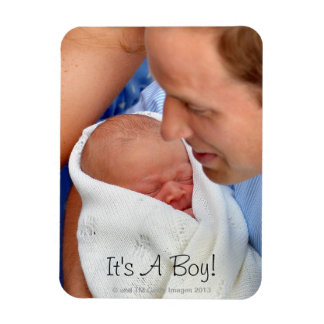 Prince William Holding Newborn Son Magnet