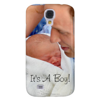 Prince William Holding Newborn Son Samsung Galaxy S4 Cover