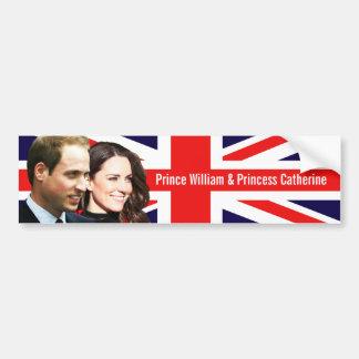 Prince William & Kate Bumper Sticker Car Bumper Sticker