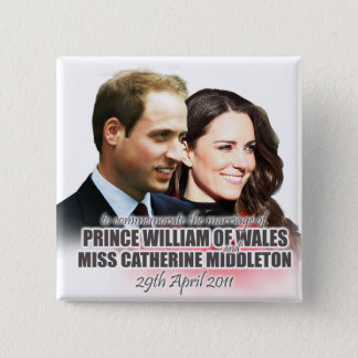 Prince William & Kate Royal Wedding Button