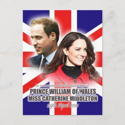 Prince William  Kate Wedding on Prince William   Kate Royal Wedding Postcard From Zazzle Com