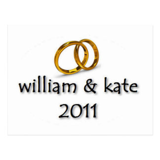 Prince William & Kate's Wedding 2011 Postcard