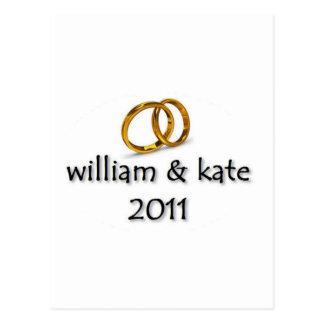 Prince William & Kate's Wedding Postcard