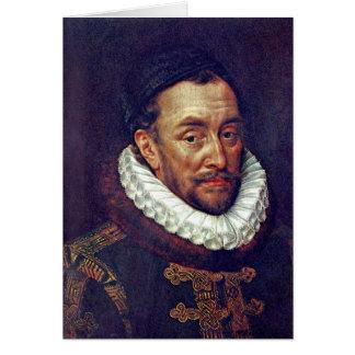Prince William Of Orange By Key Adriaen Thomasz Greeting Card
