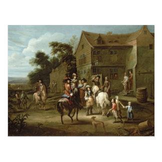 Prince William of Orange with Huntsmen Postcard