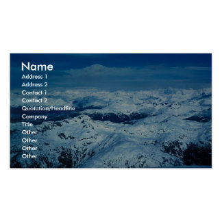 Prince William Sound - Aerial View Business Card