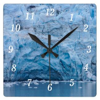 Prince William Sound Glacier Square Wall Clock