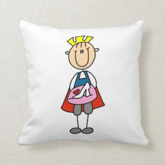 Prince With Glass Slipper Throw Pillows