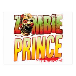 Prince Zombie Head Postcard