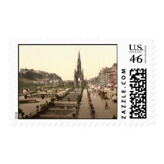Princes Street, the Castle, and Scott Monument Stamp