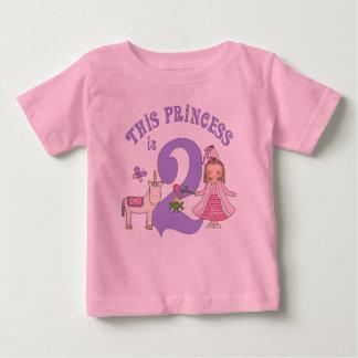 Princesa 2do cumpleaños del unicornio playeras