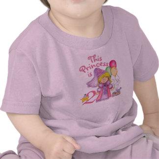 Princesa 2do cumpleaños camiseta